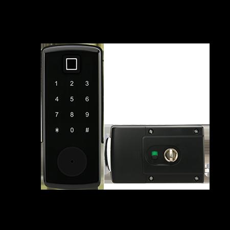 奧爾良S350BL-F觸屏指紋藍牙全功能門鎖