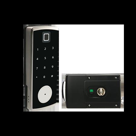 奧爾良S350FM觸屏指紋密碼門鎖